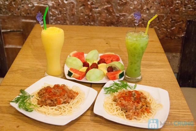 02 phần spaghetti (sốt bò/ cá) + 02 phần nước tự chọn tại UM Cafe - Chỉ 140.000đ - 13