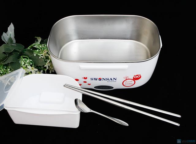Hộp cơm inox hâm nóng tự động Swonsan bảo hành 12 tháng - 6