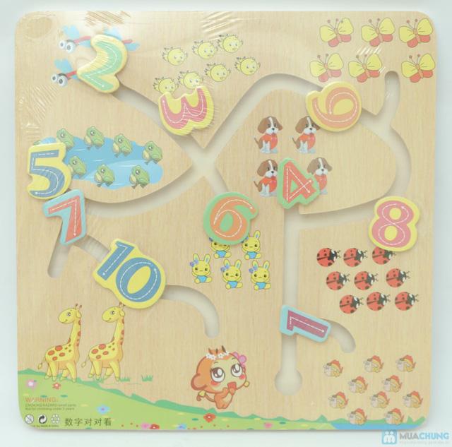 bảng học số mê cung cho bé - 1
