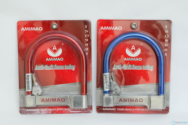 Khóa xe máy chữ U Amimao - 3