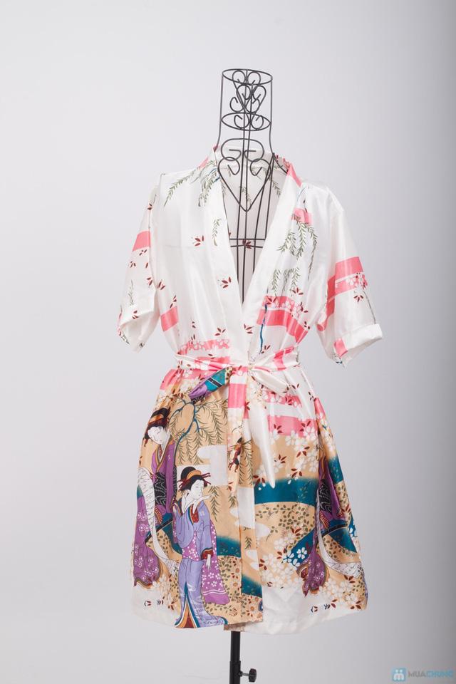 Áo khoác ngủ họa tiết Geisha - Chỉ 105.000đ - 11