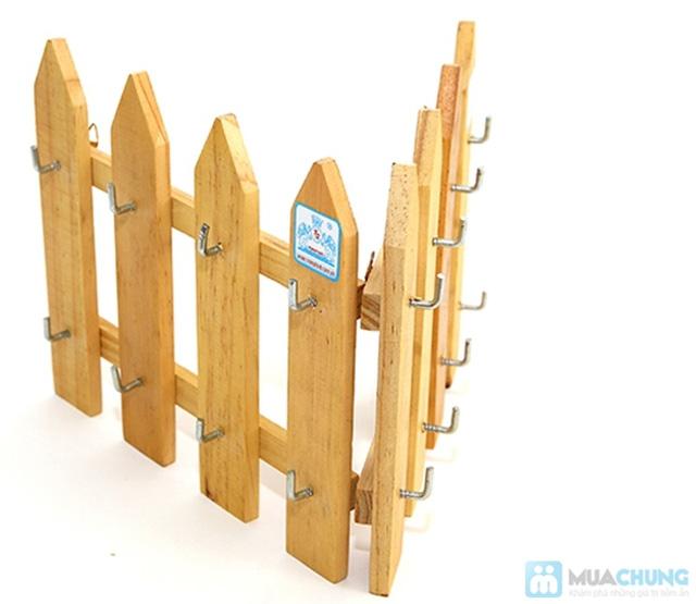Combo 2 móc treo chìa khóa hàng rào gỗ - 3