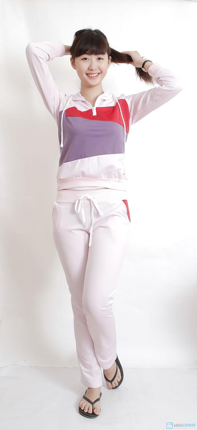 Bộ quần áo thu đông pha màu - 5