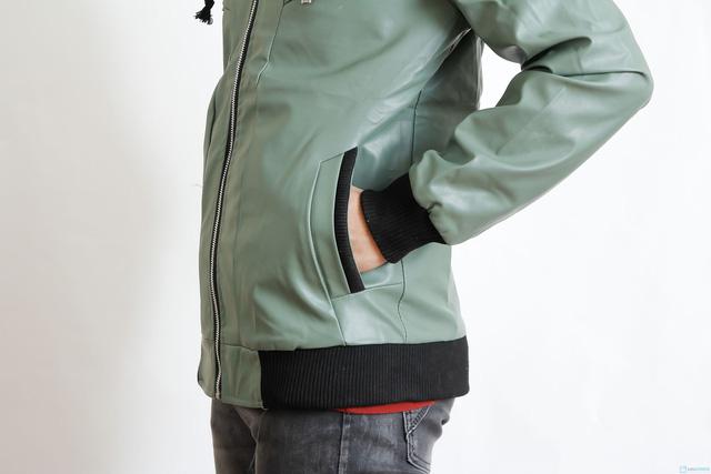 áo da 2 lớp cổ cao cho nam - 4