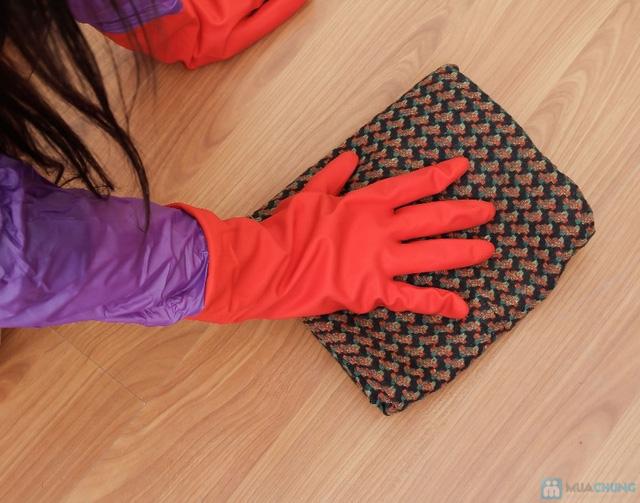Combo 2 đôi găng tay cao su lót nỉ - 6