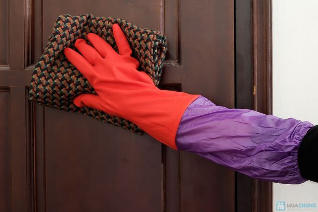 Combo 2 đôi găng tay cao su lót nỉ - 1