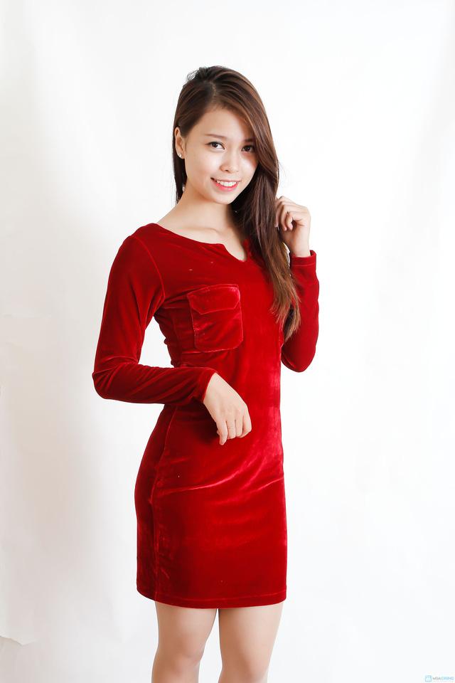 Váy nhung dáng ôm - 1