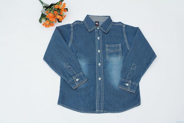 áo bò hàng xuất khẩu cho bé trai ( Size 8 đến 12 tuổi ) - 1