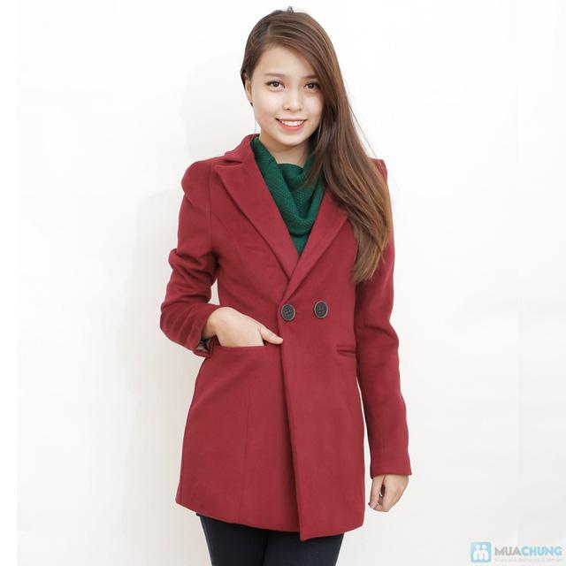Blazer dạ dáng dài phong cách Hàn Quốc - 3