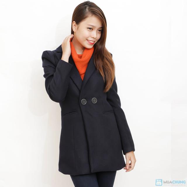 Blazer dạ dáng dài phong cách Hàn Quốc - 4