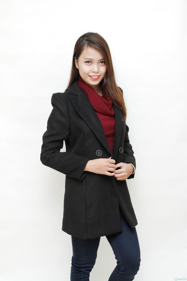 Blazer dạ dáng dài phong cách Hàn Quốc - 6