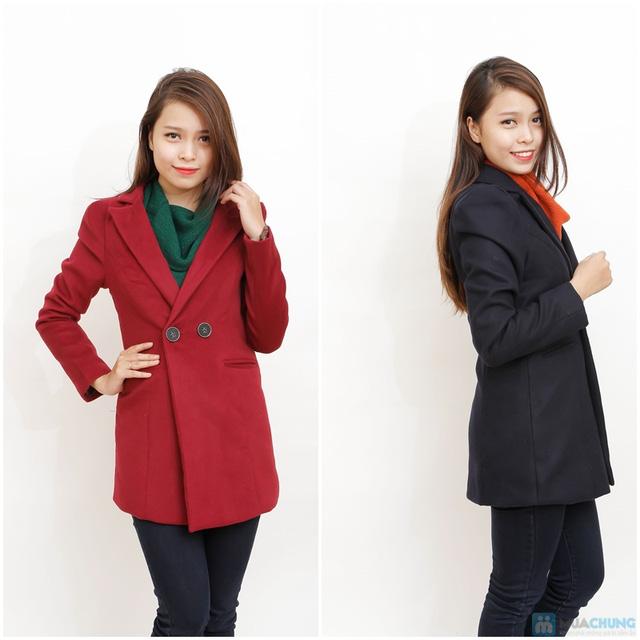 Blazer dạ dáng dài phong cách Hàn Quốc - 5