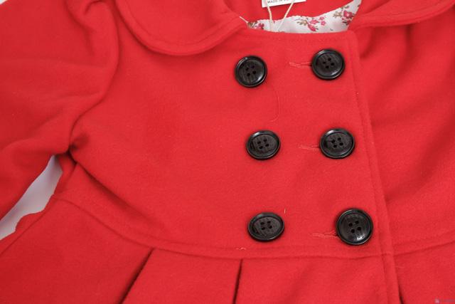 Áo khoác dạ 2 lớp dáng hàn quốc cho bé gái - 5