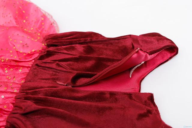 Váy nhung phối kim sa cực đáng yêu cho bé gái  - 7