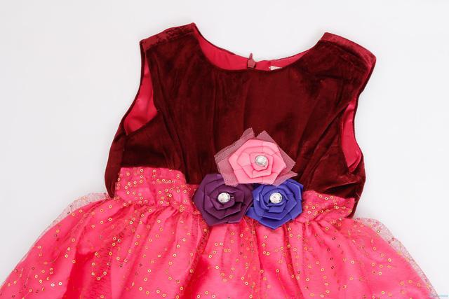 Váy nhung phối kim sa cực đáng yêu cho bé gái  - 3