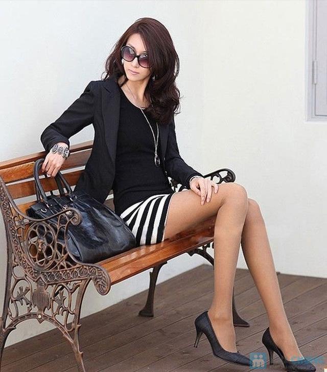 Váy cotton blend nữ chân váy kẻ - 5