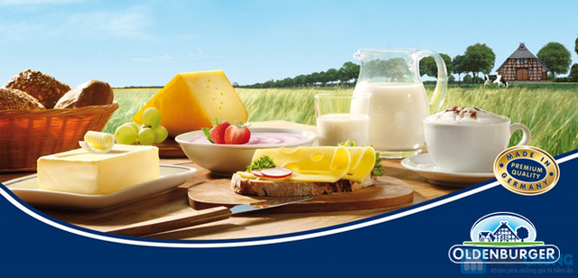 Sữa bột nguyên kem Oldenburger Đức loại 900g - 1