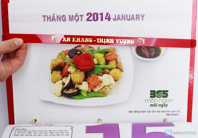 Sách lịch 365 món ăn AH04. Chỉ với 287.000đ - 9