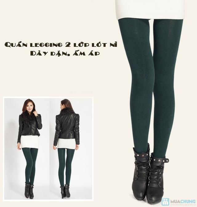 Com bo 2 Quần legging lót nỉ dẫm gót hoặc cổ chân - 11