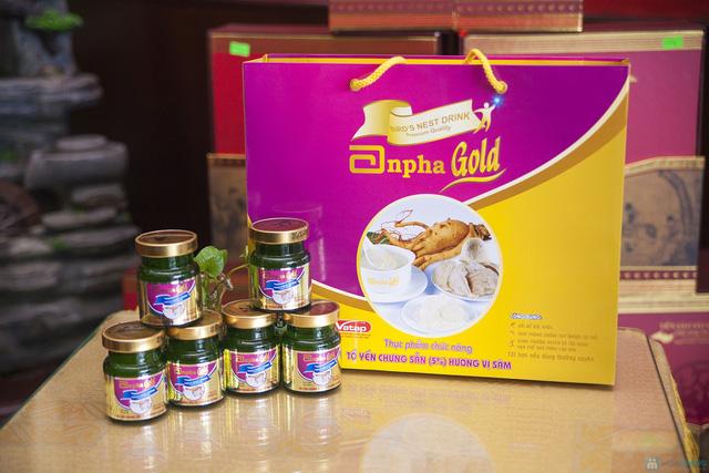 1 hộp yến sào Anpha nhân sâm Gold + 1 hộp Anpha Gold đường - 10