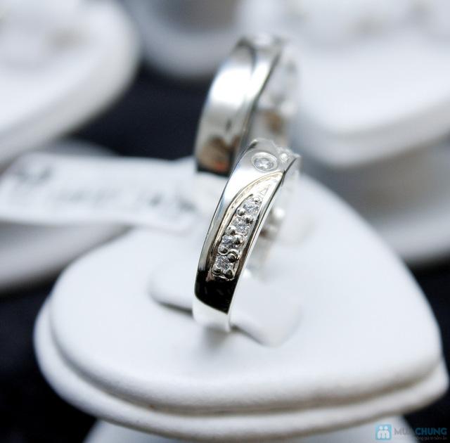 Nhẫn đôi bạc cao cấp Thành Phát - 5