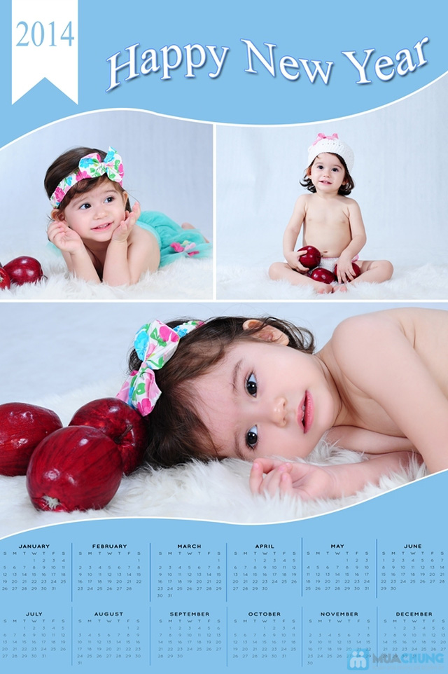 Chụp ảnh và in lịch cho bé tại Phạm studio - 3