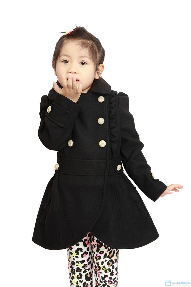 Áo dạ 2 lớp cho bé gái - 1