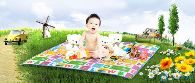 Thảm chơi Maboshi cho bé 2 mặt (1m8 x 2m) - 1