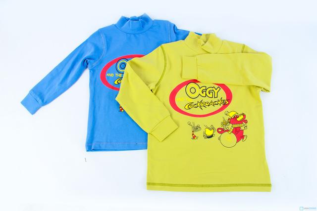 Combo 2 áo cotton cổ lọ mèo Oggy cho bé trai - 9