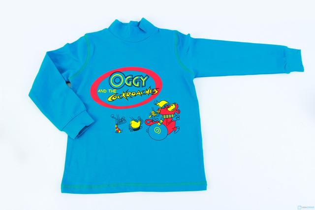 Combo 2 áo cotton cổ lọ mèo Oggy cho bé trai - 3