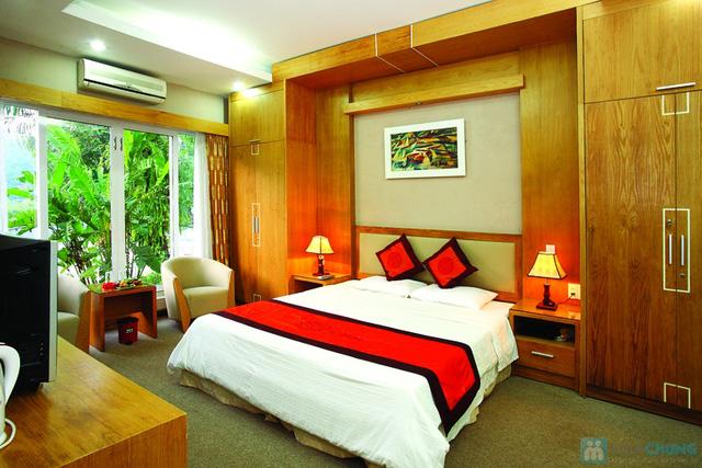 Khu du lịch sinh thái V-Star Resort Hòa Bình. Phòng Deluxe cho 02 người kèm ăn sáng và 01 bữa ăn chính. - 1