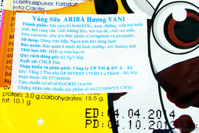 Combo 05 vỉ váng sữa Ariba - 3