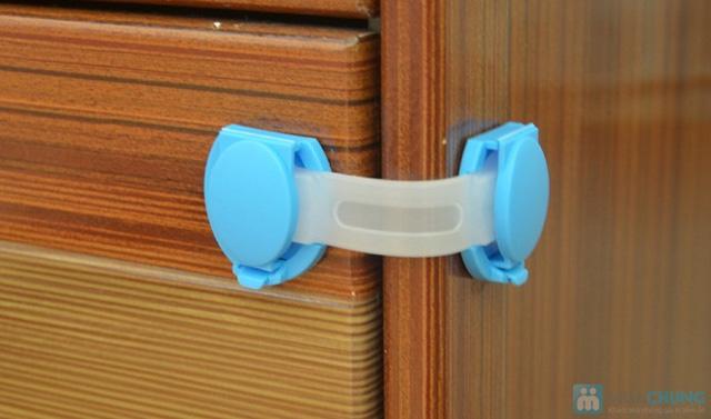 Combo 4 khóa tủ lạnh, ngăn kéo an toàn cho bé - 1
