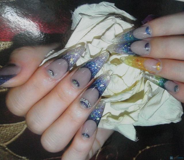 Đắp móng bột cao cấp tạo hình trang trí nghệ thuật tại Em's Nail - 4
