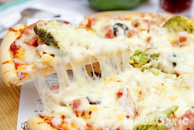 sét 1 Pizza  home cỡ lớn  (28cm cắt 10 miếng)+2 pepsi - 7