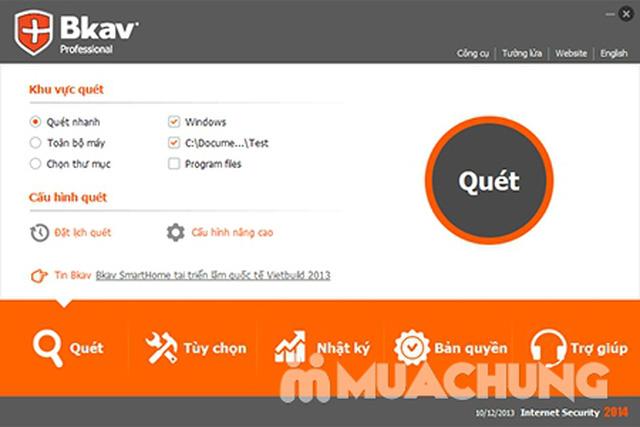 Phần mềm diệt Virus BKAV PRO INTERNET SECURITY - 1