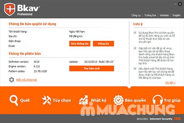 Phần mềm diệt Virus BKAV PRO INTERNET SECURITY - 3
