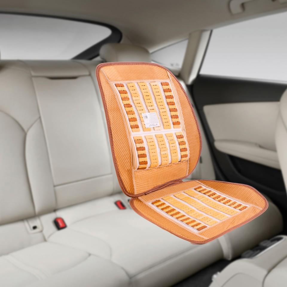Đệm trúc lót ghế ô tô có dựa lưng Hando